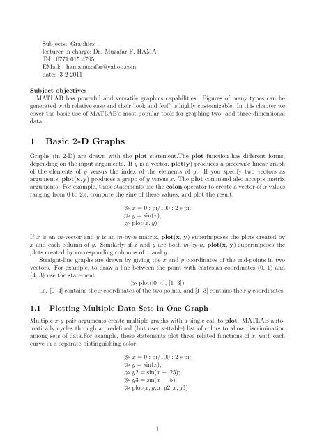 Matlab Chapter6 pdf