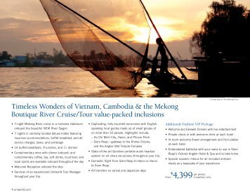 Timeless Wonders of Vietnam, Cambodia & the Mekong ... - Uniworld