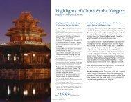 2999 Highlights of China & the Yangtze - Uniworld River Cruises