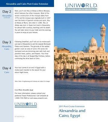 Alexandria and Cairo, Egypt - Uniworld