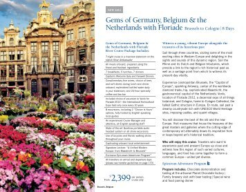 Gems of Germany, Belgium & the Netherlands - United Overseas Bank