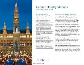Danube Holiday Markets - Uniworld River Cruises
