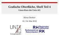Grafische Oberfläche, Shell Teil 4 - Linux-Kurs der ... - Unix-AG-Wiki