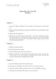 Linux-Kurs der Unix-AG Übung 2 - Unix-AG-Wiki