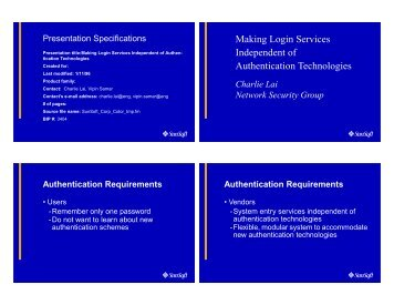 Making Login Services Independent of Authentication Technologies