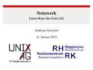 Netzwerk - Linux-Kurs der Unix-AG - Unix-AG-Wiki
