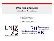 Prozesse und Logs - Linux-Kurs der Unix-AG - Unix-AG-Wiki