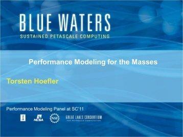 What is Performance Modeling - T. Hoefler