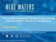 Performance-oriented Parallel Programming - T. Hoefler