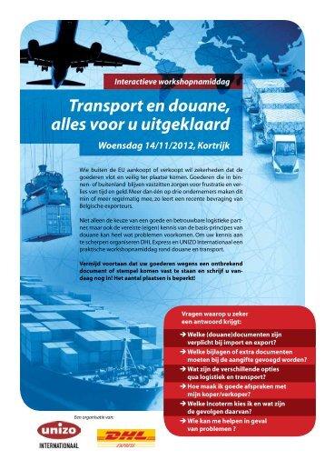 Transport en douane, alles voor u uitgeklaard - UNIZO.be