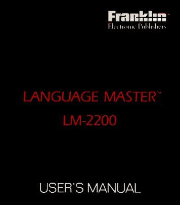 LM-2200 - Franklin Electronic Publishers