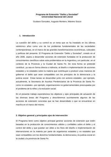 GUIA DE CONTENIDOS - Universidad Nacional del Litoral