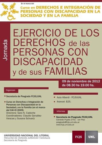 FCJS - Jornada Ejercicio de los Derechos - Programa - Universidad ...