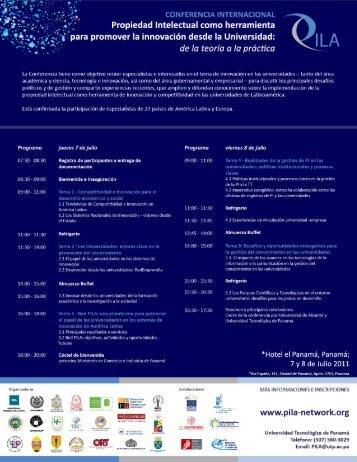 Programa - Conferencia Internacional - Propiedad Intelectual