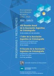 Descargar libro de resúmenes - Universidad Nacional del Litoral