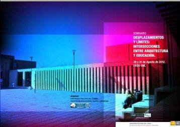 Seminario Arquitectura + Educacion - Programa - Universidad ...