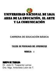 TALLER DE PSICOLOGIA DEL APRENDIZAJE - Universidad ...