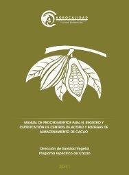 FOLLETO CENTROS ACOPIO/cacao.indd