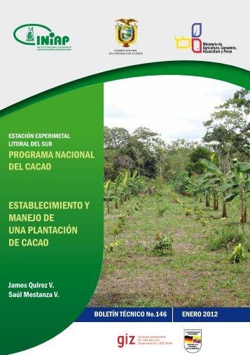 ESTABLECIMIENTO Y MANEJO DE UNA PLANTACIÓN DE CACAO