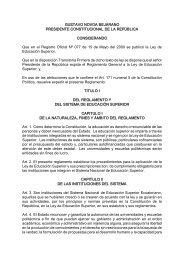 GUSTAVO NOVOA BEJARANO PRESIDENTE CONSTITUCIONAL ...