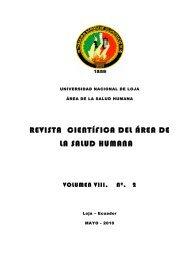 revista científica del área de la salud humana - Universidad ...