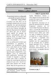 Carta Informativa 32 - Diciembre 2012 - Universidad Nacional de La ...