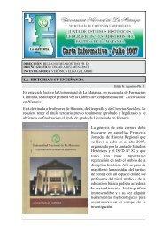 Carta Informativa 16 - Julio 2007 - Universidad Nacional de La ...