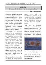 Carta informativa 31 - Universidad Nacional de La Matanza