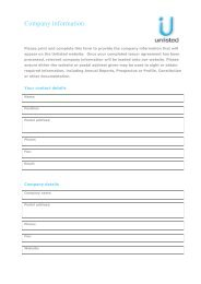 Company Information Form - Unlisted