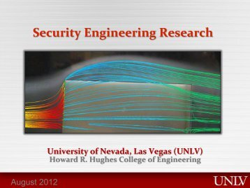 Security Engineering Research - University of Nevada, Las Vegas
