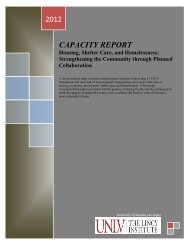 2012 CAPACITY REPORT - University of Nevada, Las Vegas