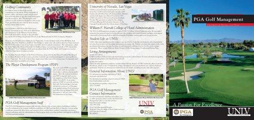 PGA Golf Management - University of Nevada, Las Vegas