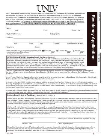 University of Nevada application?