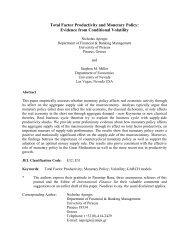 total factor productivity and money - University of Nevada, Las Vegas