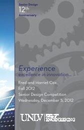 Fall 2012 - University of Nevada, Las Vegas
