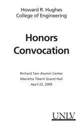 Honors Convocation - University of Nevada, Las Vegas