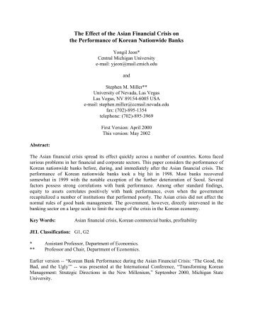 Monetary Policy in a Portfolio Balance Model with - University of ...