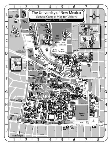 NORTH CAMPUS MAP - UNM Hospitals - University of New Mexico