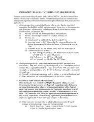 E-verify Clause - University of New Mexico