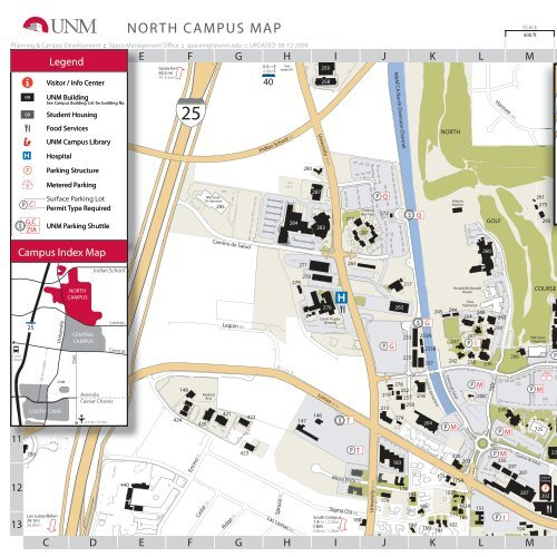 North Campus Map - University of New Mexico