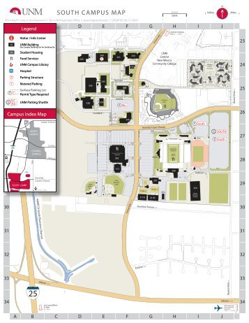 University Of New Mexico Campus Map Www Picturesso Com