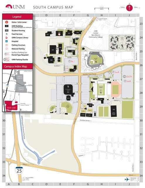 South campus map - University of New Mexico