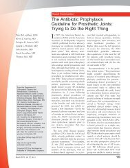 The Antibiotic Prophylaxis Guideline for Prosthetic Joints ... - SHEA