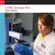 UNMC Strategic Plan 2011-2014