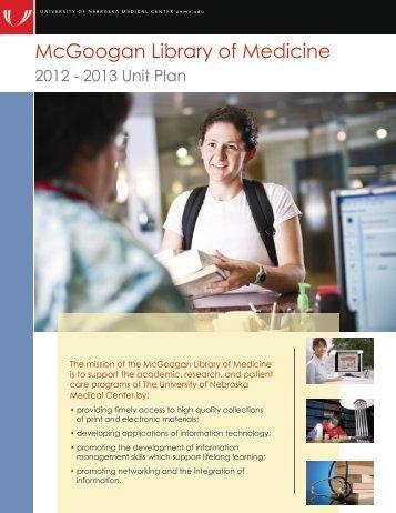 2012-2013 Unit Plan - UNMC