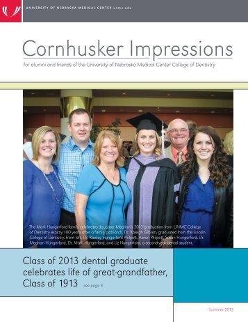 Cornhusker Impressions summer 2013 - UNMC