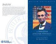 Lincoln Portrait handout - Blogs @ Butler - Butler University