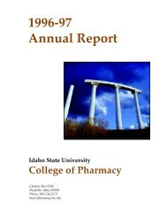 1996-97 Annual Report - College of Pharmacy - Idaho State University