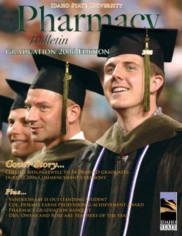 Cover Story... - College of Pharmacy - Idaho State University