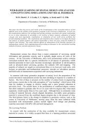 web-based learning of spatial design and analysis concepts using ...